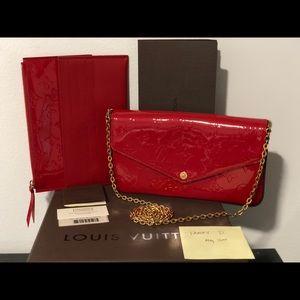 Handbags - AUTHENTIC! Louis Vuitton!Pochette Felicie Cherry